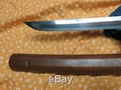1550 era Wakizashi antique sword Samurai Japanese Tachi tsuba Katana shirasaya