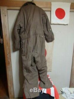 1943 Antique Real WW2 World War ii 2 Japanese Pilot Uniform Flight Suit Heavy