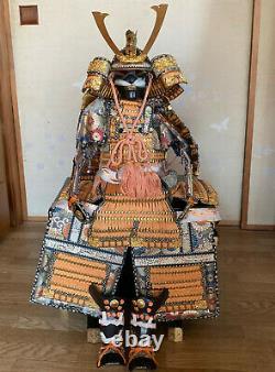 69cm SAMURAI Japanese YOROI NINGYO KABUTO Mini GOGATSU Armor Suit