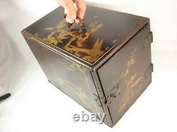 ANTIQUE 300 yr old JAPANESE EDO ERA c. 1700 KAKESUZURI DOCUMENT SAFE TANSU CHEST