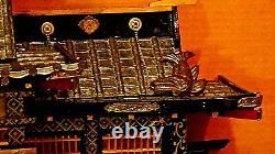 ANTIQUE MEIJI UNIQUE JAPANESE HINA DOLL EMPEROR'S PALACE WithEMPEROR&EMPRESS