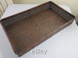 ANTIQUE RARE Japanese Bamboo Kimono Storage Basket/Tray c. 1920-1930