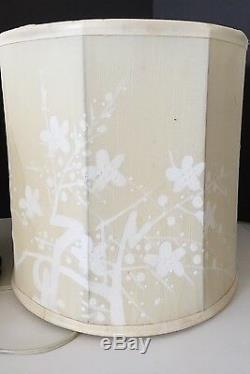 ANT/VINTAGE BLANC DE CHINE JAPANESE/ASIAN LATTICE CARVED LAMP WithORIGINAL SHADE