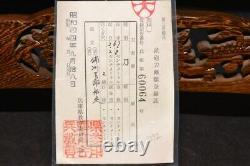 (AR-11) KATANA SUKESADA sign with NBTHK Judgment paper and Koshirae Edo