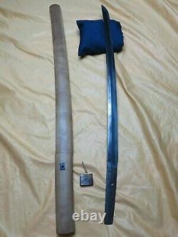 Activ Light Wakizashi antique sword Katana Samurai Japanese Tachi tsuba Makie