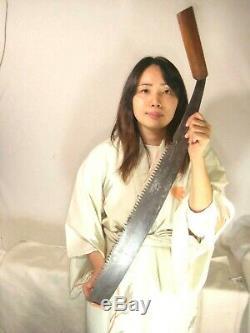 Antique 110 Year Old Signed Japanese Tool Forged Iron Maebiki Nokogiri Saw