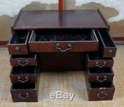 Antique Geisha Kyodai Japanese make up cabinet 1800s Japan interior furniture