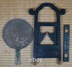 Antique Geisha Kyodai Japanese mirror cabinet 1800's Japan furniture interior