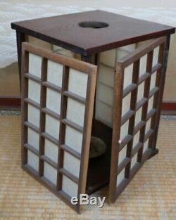 Antique Japan Andon lamp architecture 1880s lantern original Japanese craft