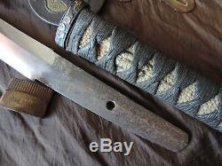 Antique Japan Samurai Wakizashi Muromachi Era With High Quality Koshirae