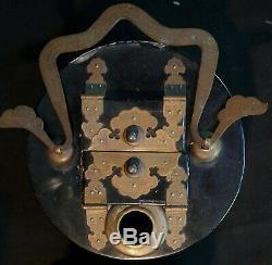 Antique Japan hanging lantern Mochiandon 1880s Japanese craft