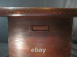 Antique Japanese 110yr Old Zelkova Wood Brazier Hibachi 3 Drawer Tansu