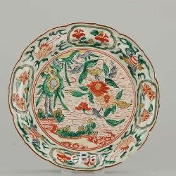 Antique Japanese 1650-1680 Porcelain Ko Kutani Plate Japan Verte