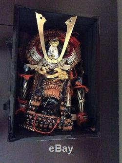 Antique Japanese Boys' Day Samurai Doll with Box ca. 1934