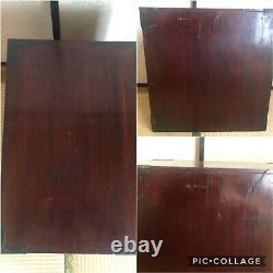 Antique Japanese Furniture Wood Cabinet Isho Dansu Shonai Tansu Black lacquered