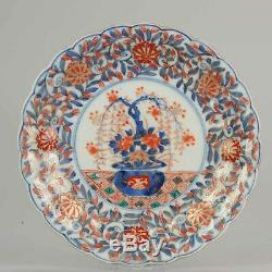 Antique Japanese Imari Plate with a floral scene Japan 19th c Porcelain
