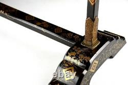Antique Japanese Lacquer Maki-e Towel Hanger Edo Era