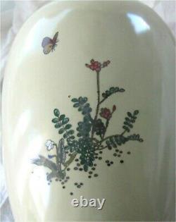 Antique Japanese Meiji Cloisonne Enamel Vase Style of Namikawa Sosuke 1870's