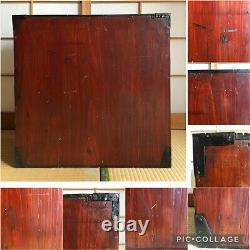 Antique Japanese Old Furniture wood cabinet Isho tansu 1800's Craft W. 23.2 #21
