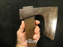 Antique Japanese Signed Hand Forged Laminated Iron Masakari Ono Ax