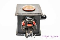 Antique Kobe Toys Mechanical Shaman Wooden Figure Toy Meiji Period Japan