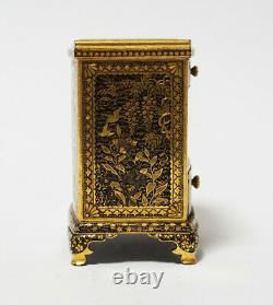 Antique Meiji Japanese Miniature Iron Cabinet Nihon Koku Kyoto Ju Komai Sei