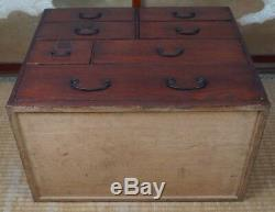 Antique Tansu Japanese lacquered furniture 1830 Edo period Japan cabinet