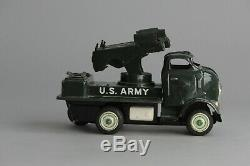 #Antique Tin Toy# Japanese 1950 YONEZAWA GMC FRICTION U. S. ARMY ROCKET LAUNCHER
