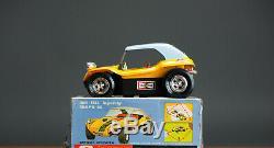 #Antique Tin Toy# Taiyo Japan Beach Buggy VW Sports Car Japanese Stunt Car