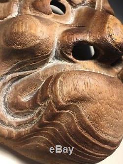 Antique Wooden Japanese (Japan) Mask beshimi Obeshimi O-Beshimi God withPatina
