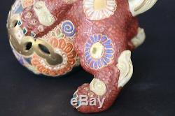 Antiques JAPANESE KUTANI FOO DOG LION SHISHI STATUE from JAPAN a622