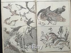 Atq HOKUSAI Ukiyoe sketches all things Colored Woodblock print Art book Japan
