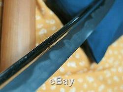 Bohi Choji Wakizashi antique sword Katana Samurai Japanese Tachi tsuba Makie