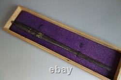 Divided Kougai Utsubo spear case Japan Samurai gold Sword fitting tsuba katana