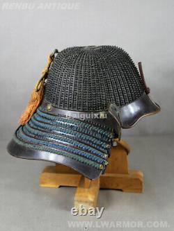 EDOTetsu Kuro Urushi Nuri 62KEN Suji Kabutojapanese samurai armor yoroi