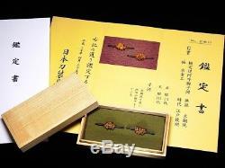 EXCELLENT Certificated MENUKI 18-19thC Japanese Edo Antique for Koshirae F047