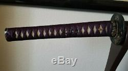 Edo Katana KOSHIRAE Japanese Sword Fittings Signed Tsuba Menuki Tosogu Samurai