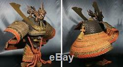 Edo Period Antique Samurai Helmet Tetsu Sabiji sanzyuuni kansei Kabuto Japan
