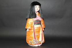 Exc Vintage Japanese 1900s ANTIQUE Doll 44cm 17.3 KIMONO figure from JAPAN a229