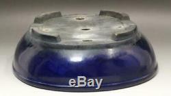 FP58 Japanese (Koyo) bonsai Blue flower pot signed # lapis lazuli Tokoname
