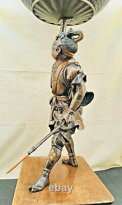 Fantastic Japanese Meiji Mixed Metal Bronze Okimono Samurai