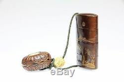 Fine Inro Signed Kogyokusai Japan Edo Period