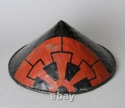 Fine samurai Hat, Jingasa with family crest Edo, 18-19 th. C Z96
