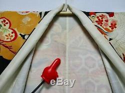 Finest Vintage! / Japanese Kimono Silk Antique Wedding Furisode / Rare /211