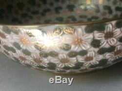 Free Shipping! Japanese Porcelain Bowl Plum Blossom Flwrs Japan Yamatoku Kutani