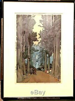 HIROSHI YOSHIDA (1876-1950) CRYPTOMERIA AVENUE, Japanese Woodblock Print