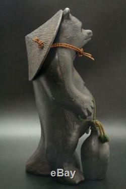 IO10 Japanese Iron racoon dog ornament 15.74inch #okimono statue shigaraki
