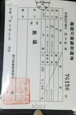 (IX-78) Old Blade TACHI BIZEN MORISHIGE with Judgment paper and Koshirae