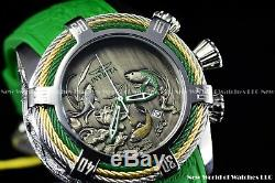 Invicta 54mm Bolt ZEUS Tri-Cable Japanese Green Koi Fish Midori Diver Watch