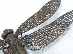 JIZAI-OKIMONO Dragonfly samurai netsuke Statue Japa Articulated 1228 Artwork